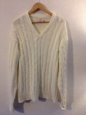 Banner Men's Acrylic Knit Jumper Size XL In Ivory <R9766