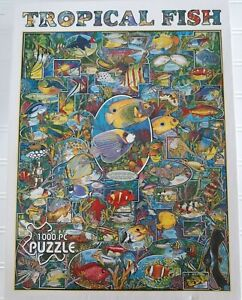 White Mountain Tropical Fish Jigsaw Puzzle 1000 Piece COMPLETE 24x30