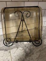 Vintage PYREX #222 Amber 8x8 Glass 2 QT Square Brownie Baking Dish