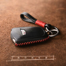 4/5 Buttons Cadillac remote leather key chain cover holder XT5 ATS CT6 XTS FOB