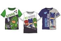 PJ Masks Jungen T-Shirt Kinder Catboy Gekko Helden Gr. 98 104 110 116 128 Neu