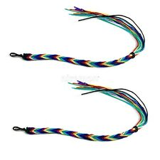 Lot Of 2 Friendship Bracelet Surfer Boho Bracelet Multi Color Acrylic 1 SIZE FIT