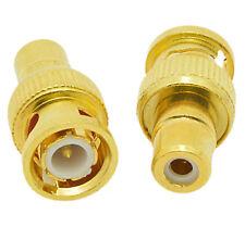 BNC Male Plug to RCA Female Jack RF Coax Adapter Connector CCTV cameras. 0230