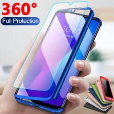 For Xiaomi Redmi 7 7A 6A 5 Note 7 6 5 Pro 360° Full Cover Case + Tempered Glass