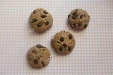 4 Handmade Chocolate Chips Cookies Charms/flatbacks