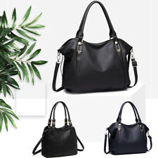 Leisure Ladies Faux Leather Handbag Slouchy Women Tote Shoulder Crossbody Bag