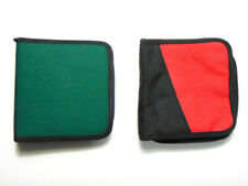 Sale! 2x CD DVD Cases Books Wallet Red & Green