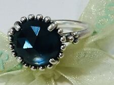Authentic Pandora Midnight Star Blue Crystal Ring Size 54 90910 Retired