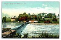 Early 1900s Rough & Ready Dam, Watertown, WI Postcard *277