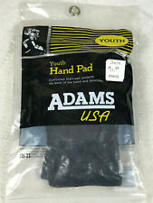 Pair of Adams Usa Football Youth Hand Pads Black New