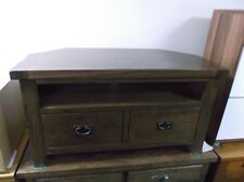 New Chunky Antique Pine Wood Corner TV Unit Stand Cabinet RRP £399