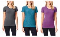 NEW 32 Degrees Cool Weatherproof Women's Short Sleeve Scoop Neck Cool Tee Shirt