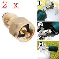 2Pcs Propane Refill Adapter LPG Gas 1 Lb Cylinder Tank Heater Bottles Connector