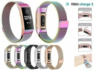 Replacement Milanese Bands Stainless Steel Magnet For Fitbit Charge 4/3/SE Strap