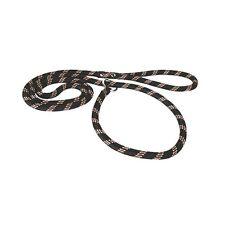 Laisse / collier LASSO corde nylon 2 en 1 noir 1,80m / 13mm zolux pour chien