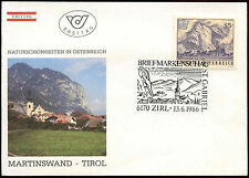 Austria 1986 Naural Beauty Spots FDC First Day Cover #C24221