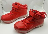 Light Up High Top Sneakers Youth Size 2.5 Red Rechargeable shoes #351