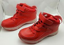 Light Up High Top Sneakers CHILDRENS SIZE 2.5 Red Rechargeable shoes #351