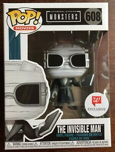 Funko Pop! 608 Universal Studios Monsters Invisible Man Walgreens Exclusive NIP