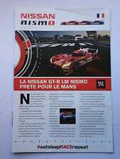 Nissan Nismo Le Mans 2015 Leaflet Unsigned Very Rare.