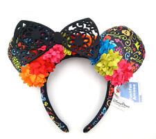 Disney Parks Minnie Ears Lace New Black Floral Coco Dia de Los Muertos Headband