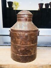 Antique Old Iron Hand Forged Beautiful Milk Water Oil Pot Container