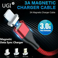 Magnetic Fast Charging Charge 3A Cable For Samsung Apple iPhoneType-C Micro USB