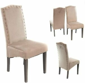 Velvet & Faux Leather | Kitchen Chairs Dining | Set of 2,4,6,8 | No Custom Fees