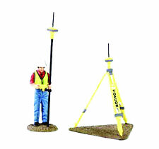 CONSTRUCTION  FIGURINES  Komatsu Topcon Figurine with GPS Base and Rover 90-0459