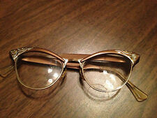 Vintage American Optical Bronze Frame With Bronze and Silver Etching