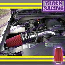 1999 2000-2002 2003-2007 CHEVY GMC CADILLAC TRUCKS SUV COLD AIR INTAKE Black Red
