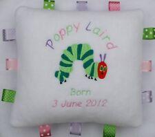 Le très faim caterpillar peluche coussin personnalisé unique bébé / enfant cadeau!