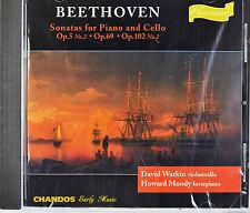 Beethoven: Sonatas for Piano and Cello, David Watkin / Howard Moody, New CD
