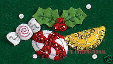 "Bucilla Candy Cane Snowman ~ 43"" Felt Christmas Tree Skirt Kit #86307, Frosty"
