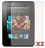 """Set 2 Screen Protector for 7"""" Amazon Kindle Fire HD Tablet PC Scratch Spill"""