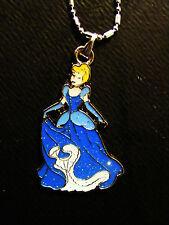 sparkley Disney Cinderella Princess charm pendant necklace