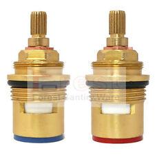 2PCS Pair 3/4 Ceramic Disc Cartridge Mixer Tap Inner Faucet Valve Quarter Turn