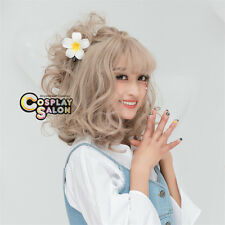 Sweet Lolita Medium Light Blonde Curly Daily Party Cosplay Wig Heat Resistant