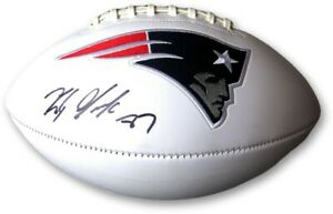 Rob Gronkowski Signed Autographed Football New England Patriots JSA PP05624