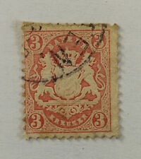 Bayern 3 Kreuzer Coat of Arms of Bavaria Stamp 1875