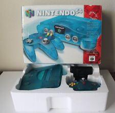 ICE BLUE Nintendo 64 Complete CIB Box Console System Funtastic Super Rare Atomic