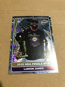 84 Lebron James Sticker Foil NBA FINALS MVP NBA 2020-21 Sticker Collection