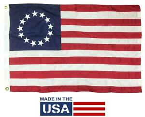 Betsy Ross Flag 2x3 Nylon - HIGH QUALITY - MADE IN THE USA!