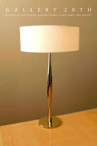 """ICONIC MID CENTURY MODERN LAUREL """"GOLDEN SWORD"""" BRASS TABLE LAMP! 1960 VTG LIGHT"""