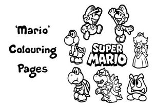 MARIO Colouring Pages - 20 Sheets - Perfect for Rainy Days & Holidays!