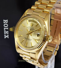 Rolex Vintage Day-Date President 18k Yellow Gold Mens Watch 1803