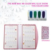 JZ_ 48 Colors Nail Gel Polish Color Card Display Book Manicure Art Tool Natura