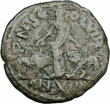 VOLUSIAN Viminacium Year 12 Bull Lion Legions in City Ancient Roman Coin i41059