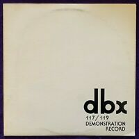 DBX 120 Series Demonstration Record 117/119 LP Audiophile PROMO Vinyl RARE NM-