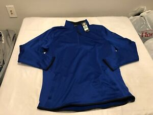 NWT $69.99 Under Armour Mens Coldgear Fleece 1/2 Zip Shirt Blue Size LARGE